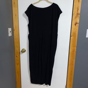 Torrid Tulip Black Shirred Midi Dress